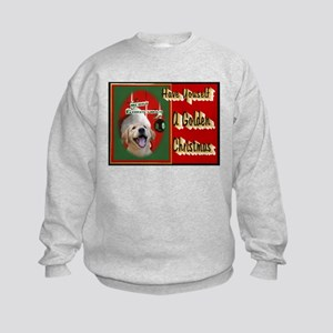 Golden Retriever Christmas Kids Sweatshirt