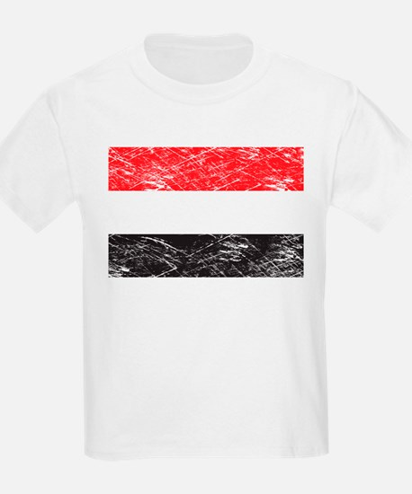 Vintage Yemen Flag Kids T-Shirt