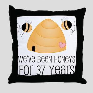 37th Anniversary Honey Throw Pillow