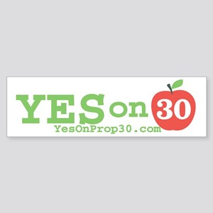 Yes on 30 Sticker (Bumper)