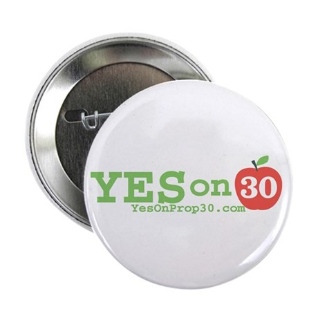 """Yes on 30 2.25"""" Button (100 pack)"""