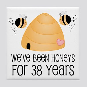 38th Anniversary Honey Tile Coaster