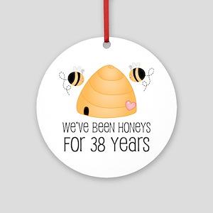38th Anniversary Honey Ornament (Round)