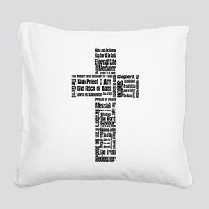Names of Jesus Square Canvas Pillow