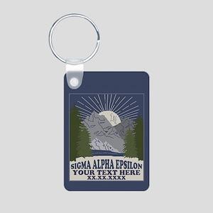 Sigma Alpha Epsilon Mounta Aluminum Photo Keychain