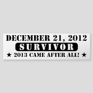 December 21 2012 Survivor Sticker (Bumper)