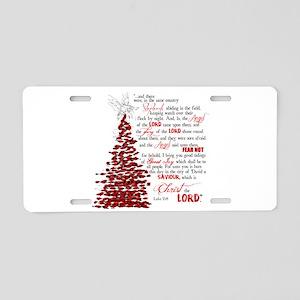 Luke 2:8 Aluminum License Plate