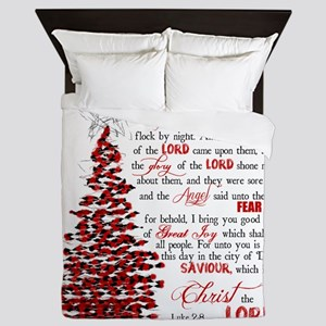 Luke 2:8 Queen Duvet