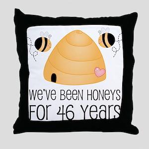 46th Anniversary Honey Throw Pillow