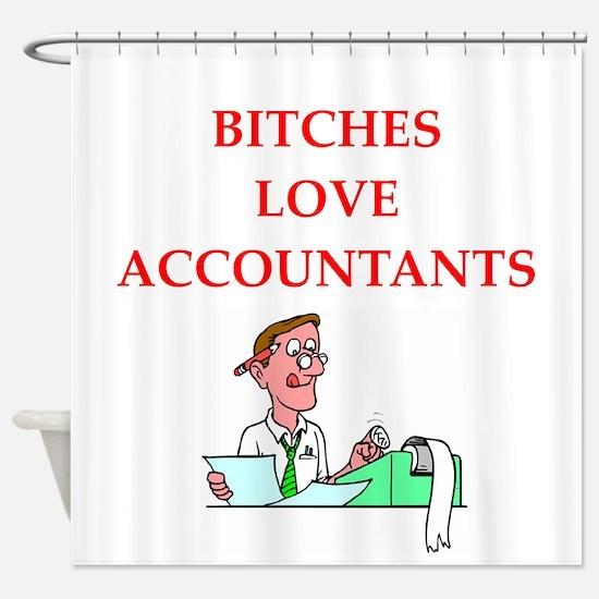 accountantt Shower Curtain