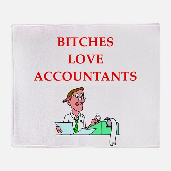 accountantt Throw Blanket