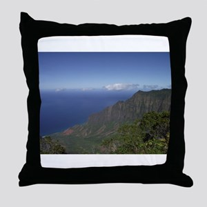 Kalalau Lookout, Kauai Hawaii Throw Pillow