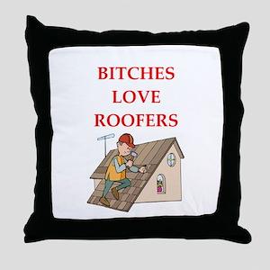 roofer Throw Pillow