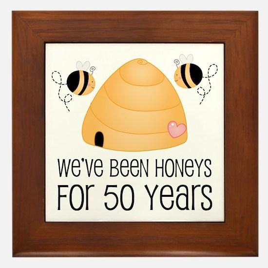 50th Anniversary Honey Framed Tile