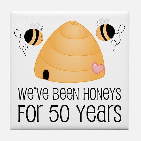 50th Anniversary Honey Tile Coaster