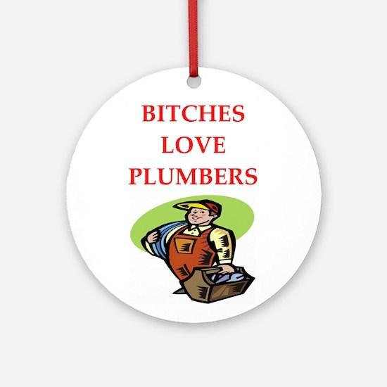 plumber Ornament (Round)