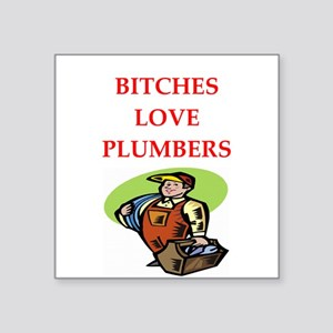 "plumber Square Sticker 3"" x 3"""
