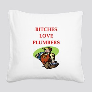 plumber Square Canvas Pillow