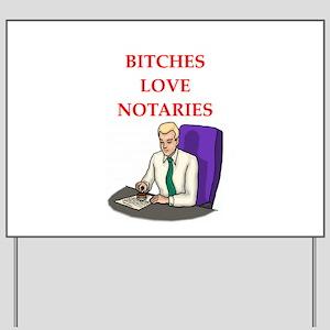 notary Yard Sign