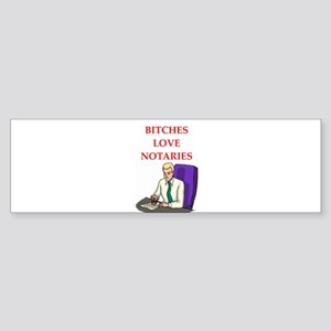 notary Sticker (Bumper)
