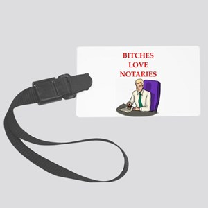 notary Large Luggage Tag