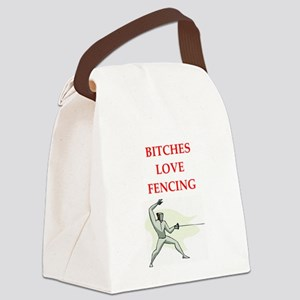 fencing Canvas Lunch Bag