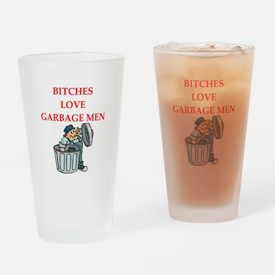 trash Drinking Glass