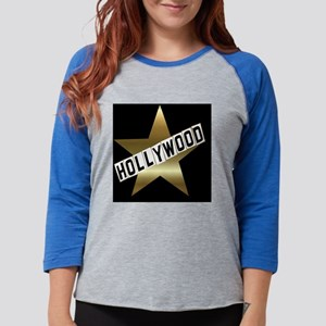 hollywood sign button Womens Baseball Tee