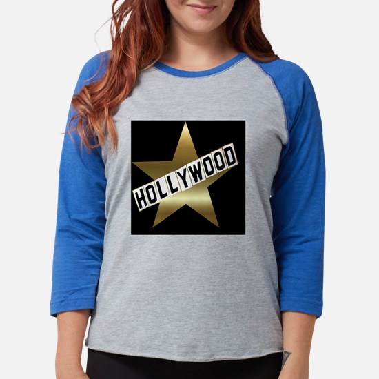 hollywood sign button.png Womens Baseball Tee