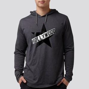 hollywood sign color Mens Hooded Shirt