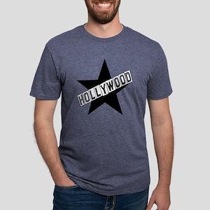 hollywood sign color Mens Tri-blend T-Shirt