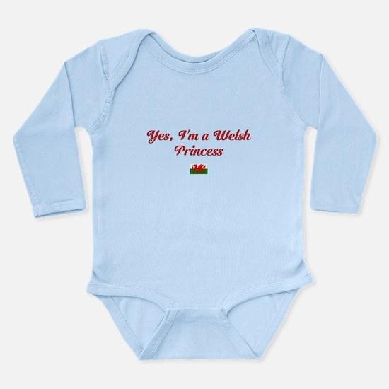 Yes, Im A Welsh Princess Long Sleeve Infant Bodysu