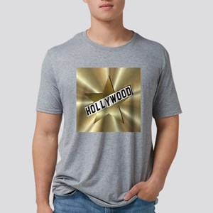 3-hollywood sign button2.pn Mens Tri-blend T-Shirt