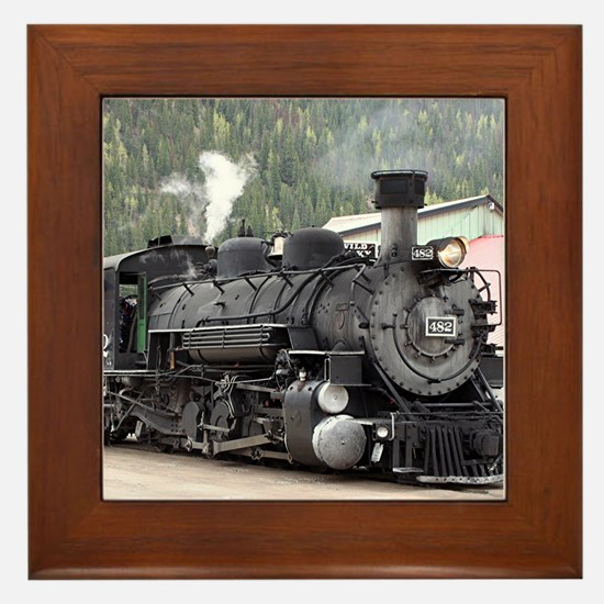 Steam Train: Colorado Framed Tile