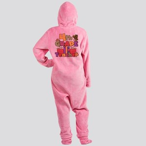 BASICTEACHERAPPLES4 Footed Pajamas