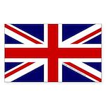 Union Jack Sticker (Rectangle 10 pk)