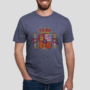 Spain Coat of Arms wood Mens Tri-blend T-Shirt