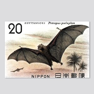 1974 Japan Bat Postage Stamp Postcards (Package of