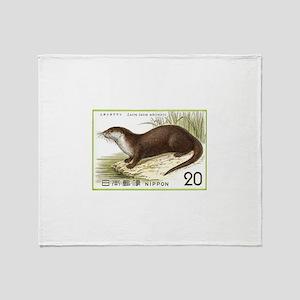 1974 Japan River Otter Postage Stamp Stadium Blan