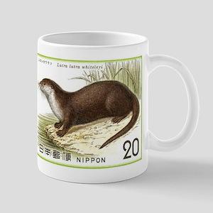 1974 Japan River Otter Postage Stamp Mug