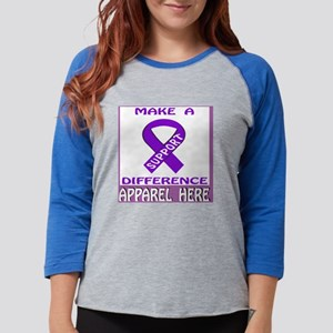 MAKE A DIFFERENCE SUPPORT Womens Baseball Tee