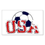 USA Soccer Sticker (Rectangle 10 pk)