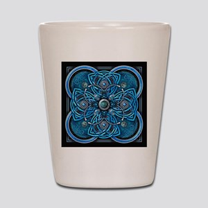 Blue Celtic Tapestry Shot Glass