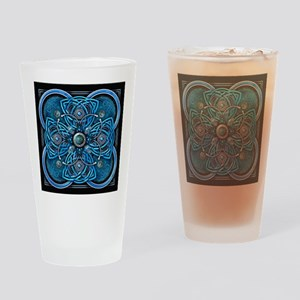 Blue Celtic Tapestry Drinking Glass