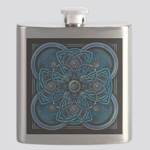 Blue Celtic Tapestry Flask