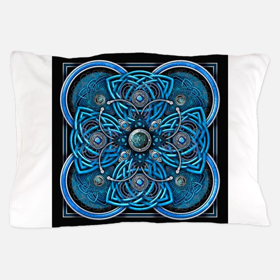Blue Celtic Tapestry Pillow Case