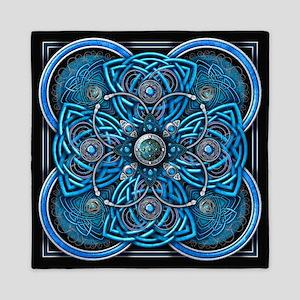 Blue Celtic Tapestry Queen Duvet