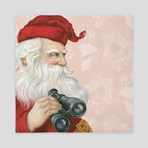 Retro Santa Claus Queen Duvet