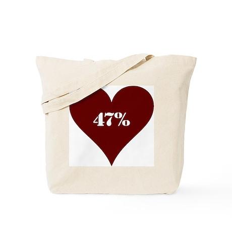 47 percent Love Tote Bag