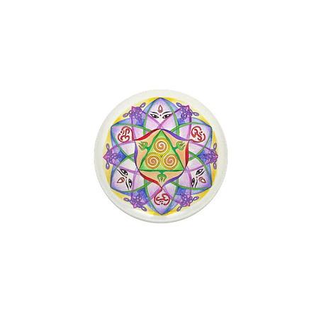 Celtic Triple Goddess Mandala Mini Button (10